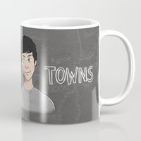 paper towns Mugs featuring Paper Towns by Joan Pons