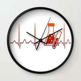 Chemist Heartbeat Wall Clock