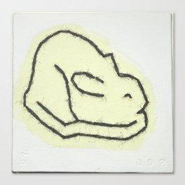 Rabbit Moon Canvas Print