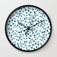 Triangles Blue Repeat Wall Clock