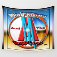 merlin Wall Tapestries featuring KING MERLIN AND THE RAPP LORD'S LOGO by KEVIN CURTIS BARR'S ART OF FAMOUS FACES