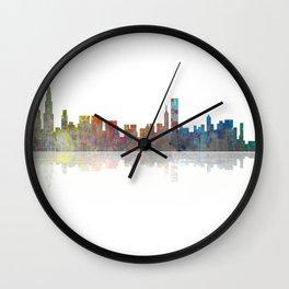 Chicago Skyline 1 BW1 Wall Clock