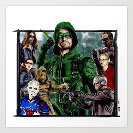 Team ARROW - Tote Bags (Green Arrow,Felicity Smoak,Spartan,OTA, Black Canary) Art Print