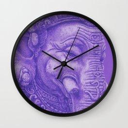 Ganesha violet Wall Clock