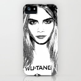 Cara Delevingne, playing with brushes. iPhone Case