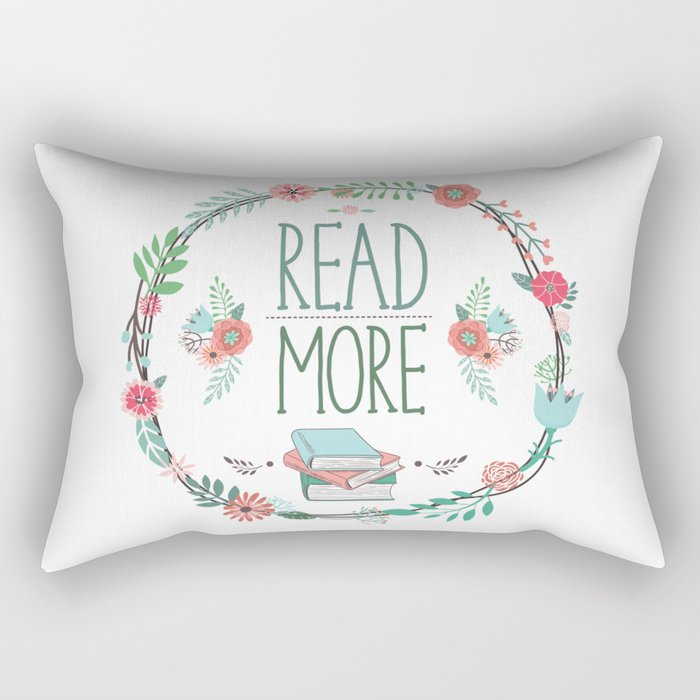 Read More Floral Wreath Rectangular Pillow