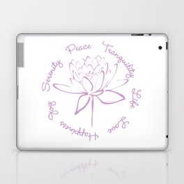 Lotus Calligraphy Text (Purple) Laptop & iPad Skin