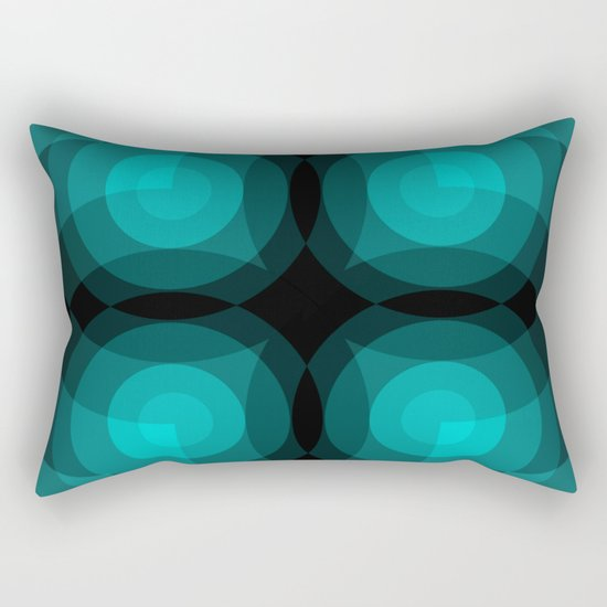 Blue Interference Rectangular Pillow