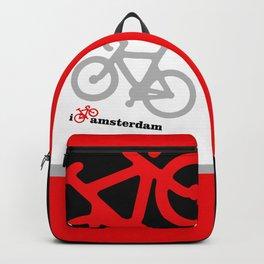 I Love Amsterdam - Red Bike Backpack
