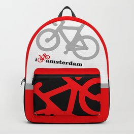 I Love Amsterdam - Red Bike Backpack