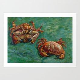 Vincent van Gogh, Two Crabs, 1889 Art Print