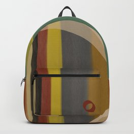 Stripes and Circles - Digital Brush and Pen Backpack
