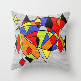 Abs space grey Throw Pillow