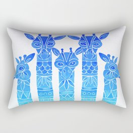 Giraffes – Blue Ombré Rectangular Pillow