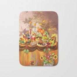 Autumn/ Fall Feast Bath Mat