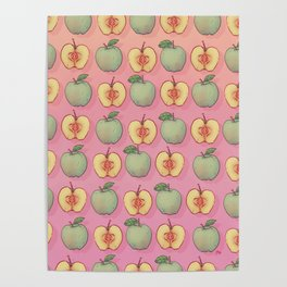 Apples Pattern Poster