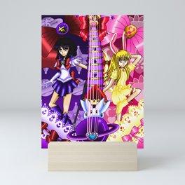 Sailor Mew Guitar #48 - Sailor Saturn & Mew Berry Mini Art Print