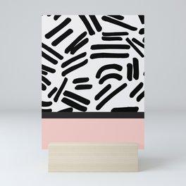 Patterned & Pink Mini Art Print