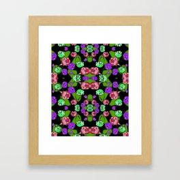 begonia Garden Framed Art Print