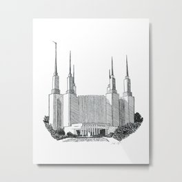 Washington DC LDS Temple Metal Print