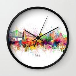 lisbon skyline artistic Wall Clock