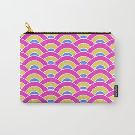 Pink, Yellow, and Blue Scallop Carry-All Pouch