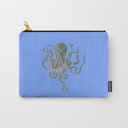 Vintage Octopus Periwinkle Carry-All Pouch