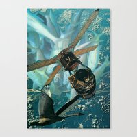 pisces Canvas Prints featuring Pisces by Peter Campbell