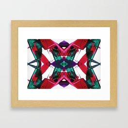 Tropical Streaks Framed Art Print