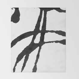 0523: a simple, bold, abstract piece in black and white by Alyssa Hamilton Art Throw Blanket