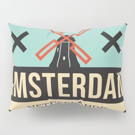 Amsterdam Windmill Badge XXX Pillow Sham