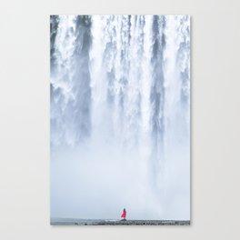 Water curtain Canvas Print