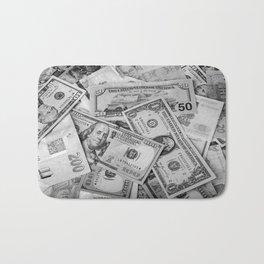 Black&white money patten Bath Mat