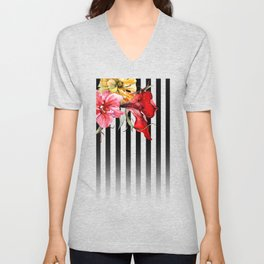 FLORA BOTANICA | stripes Unisex V-Neck