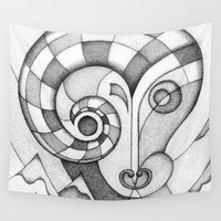 animal crew Wall Tapestries featuring Animal by AndreyKozhekin