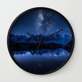 Night mountains Wall Clock