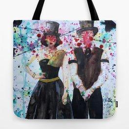 SteamPunk Couple Tote Bag