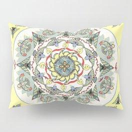 Circling Birds Mandala Pillow Sham