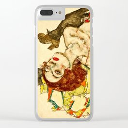 Egon Schiele - Female Lovers Clear iPhone Case