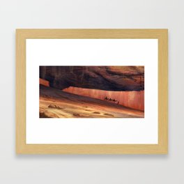 Through the mountains Framed Art Print
