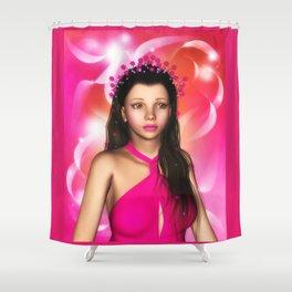 Jillian Star Elf-Magic Portrait Shower Curtain