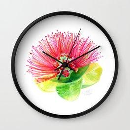 Red Flower / Ohia Lehua Wall Clock