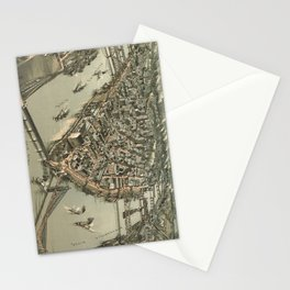 Vintage Pictorial Map of Pittsburgh (1902) Stationery Cards