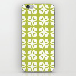 Mid Century Modern Star Pattern Chartreuse 552 iPhone Skin