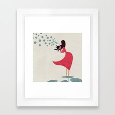 I'm bubbling. That state of absolute happiness when you are ready to fly. Framed Art Print