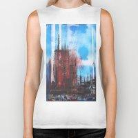cityscape Biker Tanks featuring Cityscape by Alfred Raggatt