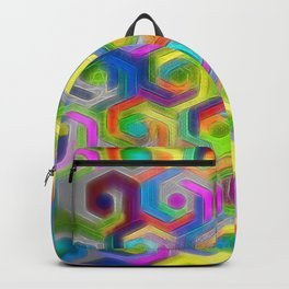 Colorful Hexagons Backpack