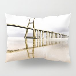 Vasco Da Gama Bridge Pillow Sham