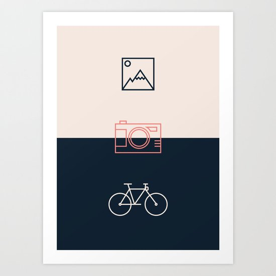 Ride and take pictures Art Print