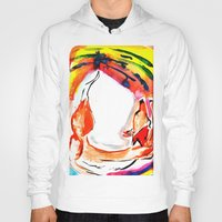 kitsune Hoodies featuring Kitsune by Karina Geddes Illustration